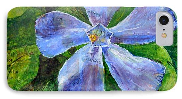 IPhone Case featuring the painting Vinca Joy by Lisa Fiedler Jaworski