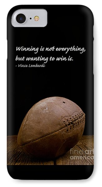 Vince Lombardi On Winning IPhone 7 Case by Edward Fielding