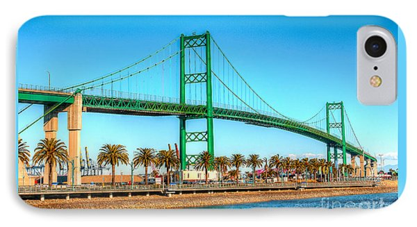 IPhone Case featuring the photograph Vincent Thomas Bridge by Jim Carrell