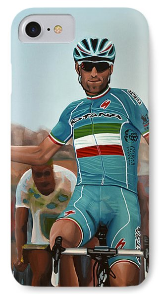 Vincenzo Nibali Painting IPhone Case by Paul Meijering