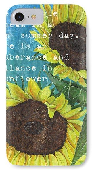 Sunflower iPhone 7 Case - Vince's Sunflowers 1 by Debbie DeWitt