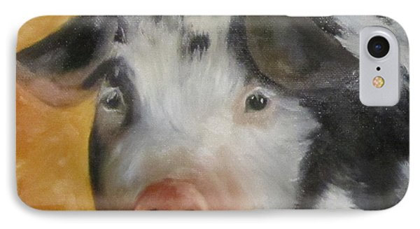 IPhone Case featuring the painting Vindicator Pig Painting by Cheri Wollenberg