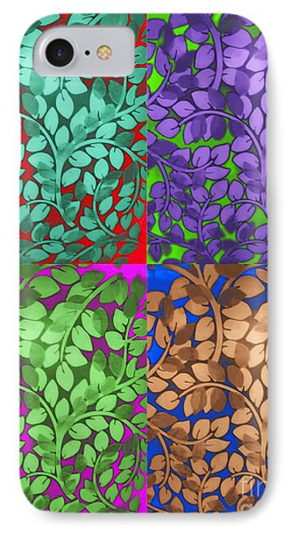 Vine Abstract Phone Case by Joan  Minchak