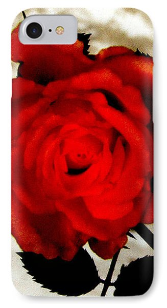 Vine And Rose 3 IPhone Case by Gayle Price Thomas