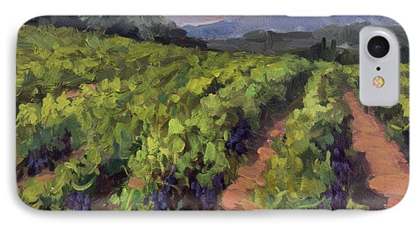 Vineyard At Dentelles Phone Case by Diane McClary