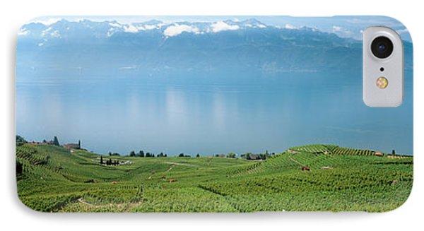 Vineyard At The Lakeside, Lake Geneva IPhone Case by Panoramic Images