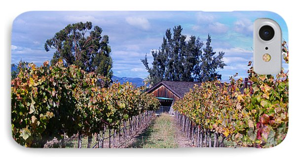 Livermore - Vineyard Barn IPhone Case by Haleh Mahbod