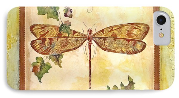 Vineyard Dragonfly IPhone Case by Jean Plout