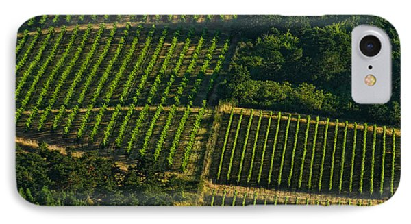 Vineyard Geometry IPhone Case by Don Schwartz