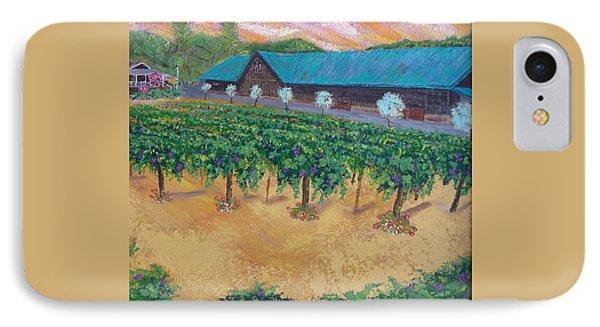 Vineyard Sunset Phone Case by Scott Phillips