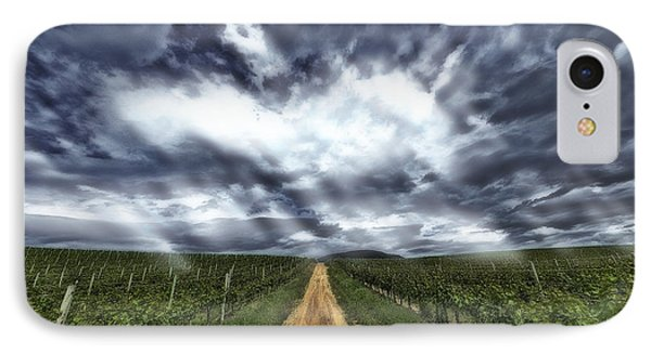 Vineyard Walk IPhone Case by Thomas Born