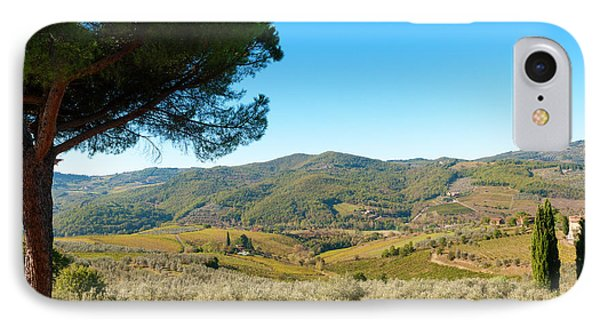 Vineyards And Olive Groves, Greve IPhone Case by Nico Tondini