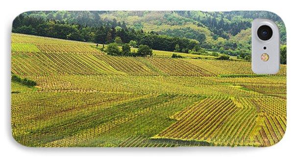 Vineyards Below Zellenberg France 1 Phone Case by Greg Matchick