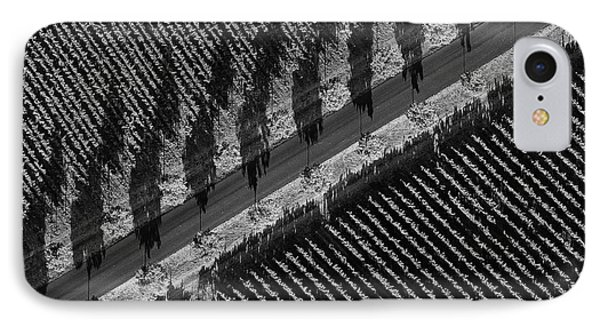 Vineyards From Hot Air Balloon 2 IPhone Case by Bob Phillips