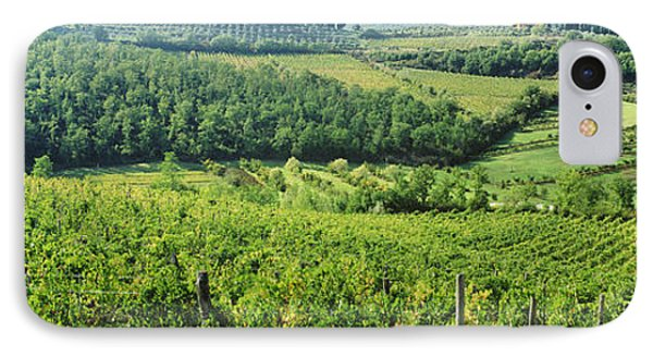 Vineyards In Chianti Region, Tuscany IPhone Case by Panoramic Images