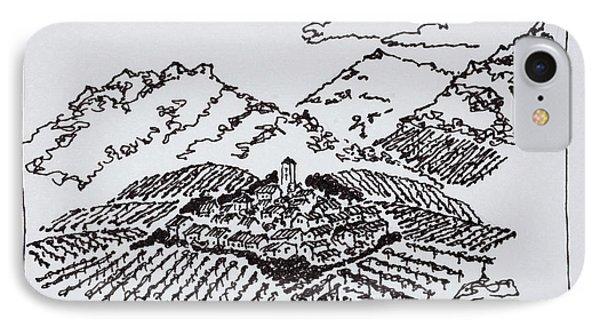Vineyards In The Col De La Ramiere IPhone Case