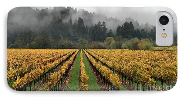 Vineyard Russian River Wine Country Sonoma County California IPhone Case by Wernher Krutein
