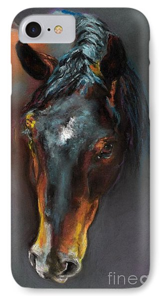 Vinnie Mustang Love Phone Case by Frances Marino