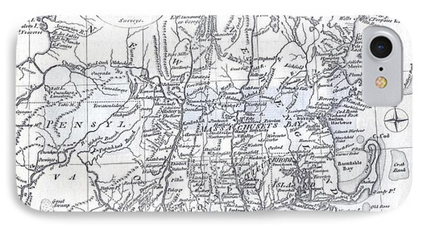 Vintage 1778 New England Map IPhone Case by Dan Sproul