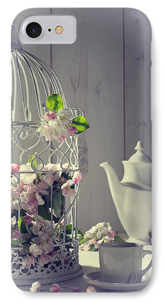 Vintage Afternoon Tea IPhone Case by Amanda Elwell