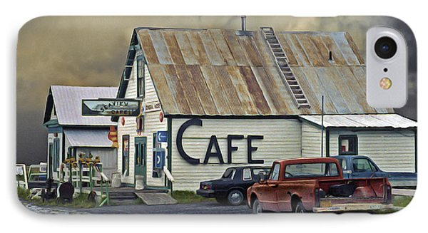 Vintage Alaska Cafe Phone Case by Ron Day