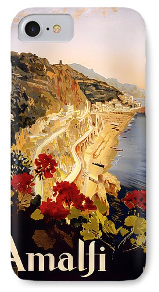Vintage Amalfi Travel Poster 1915 IPhone Case