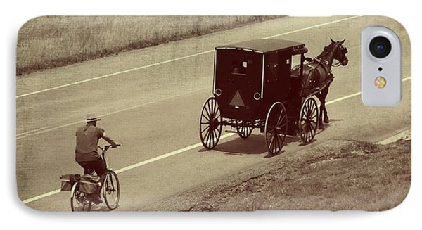 Vintage Amish Buggy And Bicycle IPhone Case by Dan Sproul