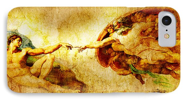 Vintage Art - The Creation Of Adam Phone Case by Stefano Senise