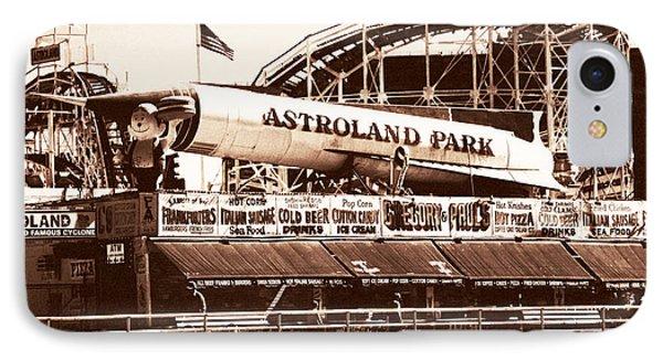 Vintage Astroland Park Phone Case by John Rizzuto