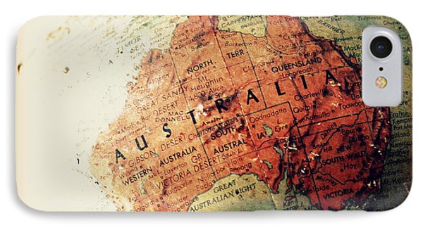 Vintage Australia IPhone Case by Faith Williams