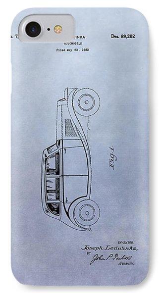 Vintage Automobile Patent IPhone Case