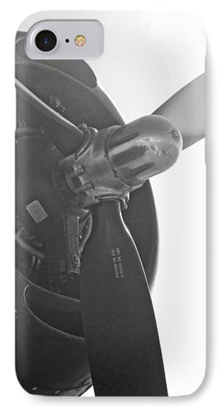 Grumman T B F Avenger Engine And Propeller IPhone Case by Connie Fox