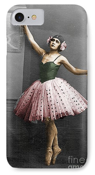 Vintage Ballerina  IPhone Case by Lyric Lucas