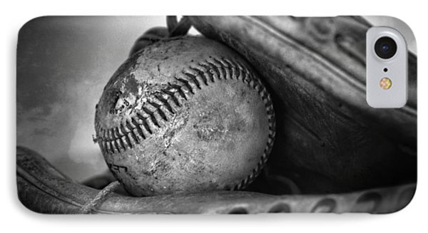 Vintage Baseball And Glove IPhone Case by Dan Sproul
