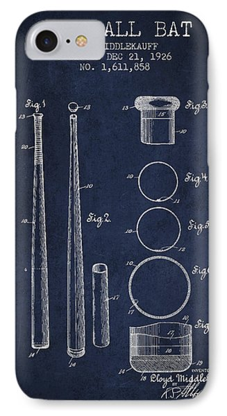 Vintage Baseball Bat Patent From 1926 IPhone 7 Case