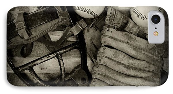 Vintage Baseball Equipment IPhone Case by Paul Ward