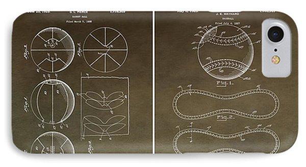 Vintage Basketball Baseball Patent IPhone Case