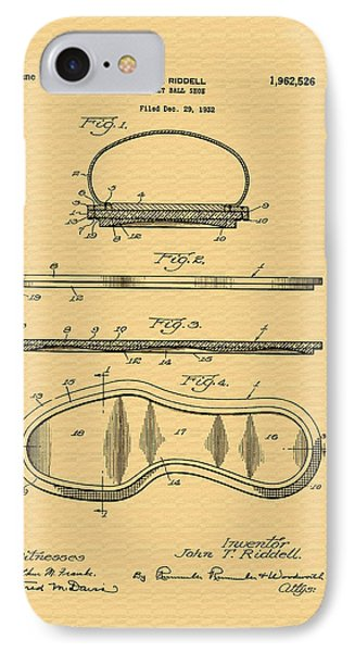 Vintage Basketball Shoe Patent - 1932 IPhone Case by Mountain Dreams