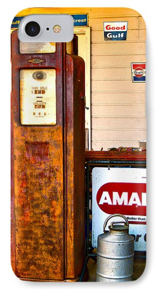 IPhone Case featuring the photograph Vintage Bassett Gas Pump   by Lesa Fine