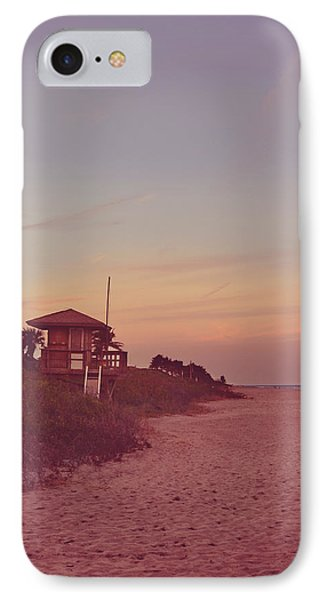 Vintage Beach Hut IPhone Case by Laura Fasulo