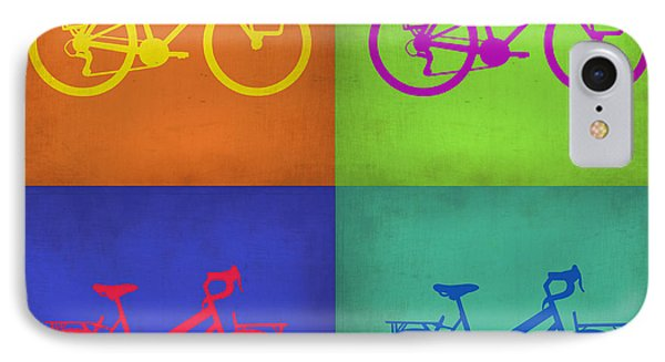 Vintage Bicycle Pop Art 1 IPhone Case by Naxart Studio