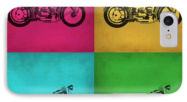 Motorcycle iPhone 7 Case - Vintage Bike Pop Art 1 by Naxart Studio