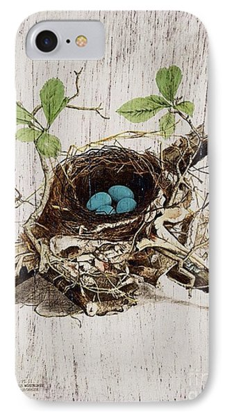 Vintage Bird Nest French Botanical Art Phone Case by Cranberry Sky