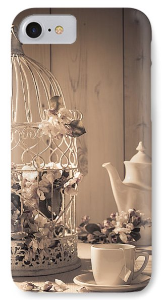 Vintage Birdcage IPhone Case by Amanda Elwell
