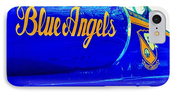 Vintage Blue Angel Phone Case by Benjamin Yeager