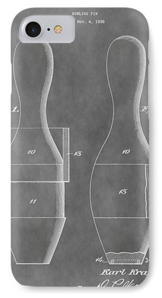 Vintage Bowling Pins Patent IPhone Case