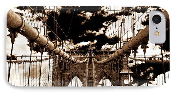 Vintage Brooklyn Bridge Phone Case by John Rizzuto
