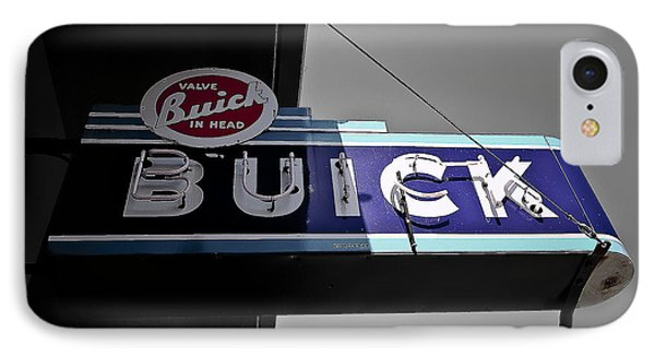 Vintage Buick Sign IPhone Case by Michael White