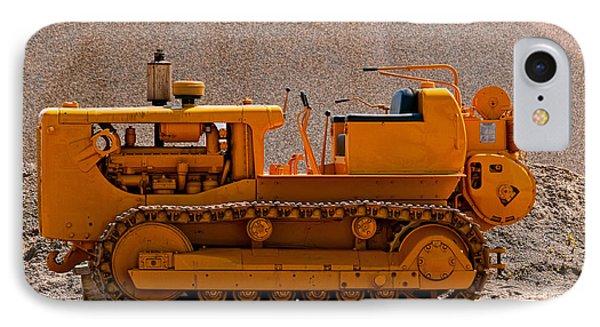 Vintage Bulldozer IPhone Case by Les Palenik