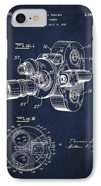 Vintage Camera Patent Drawing From 1938 Phone Case by Aged Pixel